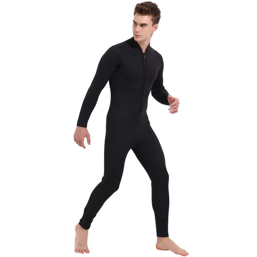 ダイビングスーツ5ミリメートルウェットスーツネオプレンスーツショーティーウェットスーツ男性女性ワンピース水着サーフスキューバダイビング夏 B07V32MFDR  Large