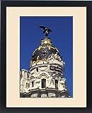 Framed Print of Spain, Madrid, Gran Via. Metropolis building