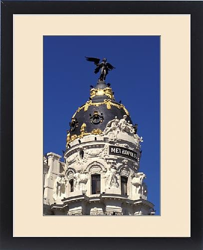 Framed Print of Spain, Madrid, Gran Via. Metropolis building by Fine Art Storehouse