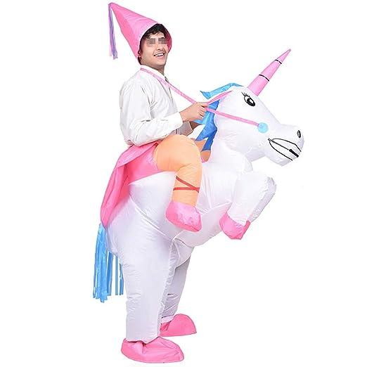 Amosfun - Disfraz Hinchable de Unicornio con Unicornio ...