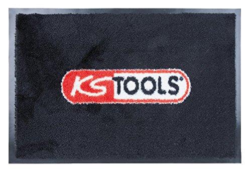 KS Tools 985.0860 Fussmatte mit KS-Logo,80x120cm, rot schwarz