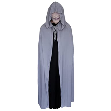 Amazon 54 gray cloak with large hood halloween costume cape 54quot gray cloak with large hood halloween costume cape stc11571 solutioingenieria Images