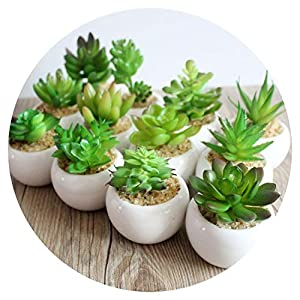A Set Artificial Green Plant Artificial Miniascape/Bonsai/Potted Home Balcony Decoration Decorative Flower Succulent Plants 83
