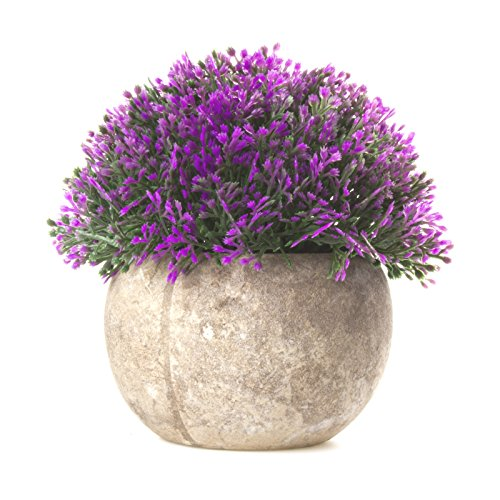 SimLife Mini Plastic Lifelike Artificial Plants Fake Green Grass Flower with Pots For Home Décor (Plastic Artificial Grass Plant)