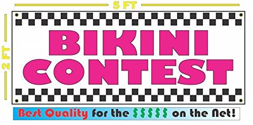 BIKINI CONTEST All Weather Full Color Banner Sign ()