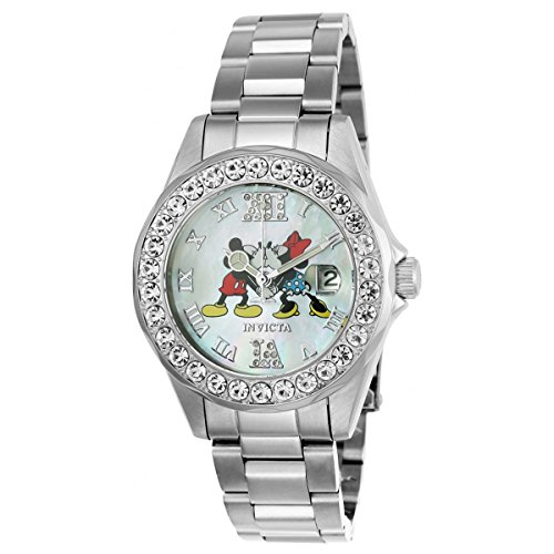 Invicta Disney Limited Edition Mother of Pearl Dial Ladies Watch 24395