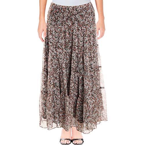 LAUREN RALPH LAUREN Womens Moriah Floral Print Peasant, Boho Skirt Pink XS