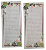 Meadowsweet Kitchens Vintage Flowers Set of 2 Grocery List...