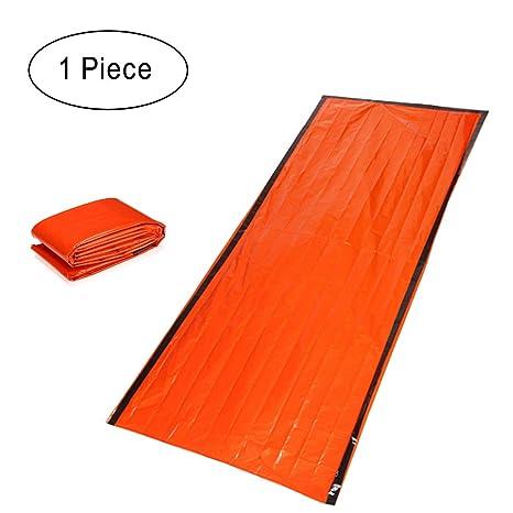 Fangcheng Bolsa Dormir - Sacos Dormir para Adultos Carpa Aislamiento A Prueba De Humedad Naranja Reflexivo