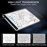 Light Box, SAMTIAN A4 Light Box LED Copy Board Drawing Light Pad with USB Charger Cable, Art Craft Drawing Tracing Tattoo Board for Artists, Drawing, Animation, Sketching, Designing (LB-A4 LITE).