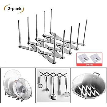 2Pk IKEA VARIERA Pot Lid Organizer Stainless Steel