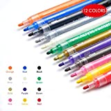 Acrylic Paint Markers,Myguru Permanent Marker Pens Set Art Markers for Paper,Canvas,Glass,Metal,Ceramic Crockeries,Rock, Wood,DIY