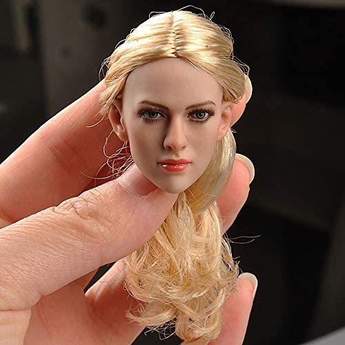 """KT012 1//6 Female Head Sculpt KIMI TOYS Carving Model For 12/"""" Action Figure Body"""