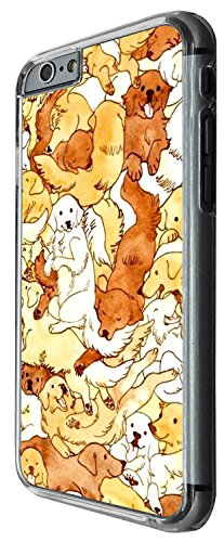 1298 - Cool Fun Trendy cute kwaii collage dogs puppy Design iphone 5 5S Coque Fashion Trend Case Coque Protection Cover plastique et métal - Clear