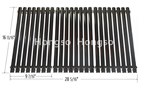 Porcelain Cooking Grid (Hongso PCZ193 Porcelain Steel Channel Cooking Grid Replacement for Gas Grill Model Charbroil 463440109, Sold as a set of 3; aftermarket replacements)