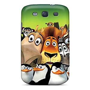 Shock Absorption Cell-phone Hard Covers For Samsung Galaxy S3 (ugO1608Ebfq) Customized Realistic Madagascar 3 Series