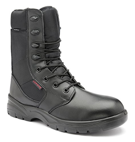 Leg Security Waterproof Zephyr Boots Black Metal Z007 Combat High Leather Free 1X1qZw4