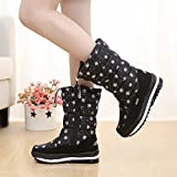 YJNB New Winter Waterproof Snow Boots Warm Boots Women-In-Tube Thickened Flat Women'S Shoes
