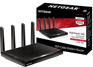 NETGEAR Nighthawk X4S DOCSIS 3.1 Ultra-High Speed Wifi Cable Modem Router Combo Compatible with Xfinity from Comcast, Cox, Gig-speed from Xfinity (C7800)