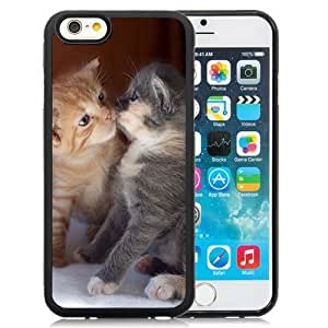 New Personalized Custom Designed For iPhone 6 4.7 Inch TPU Phone Case For Baby Kitten Kissing Phone Case Cover