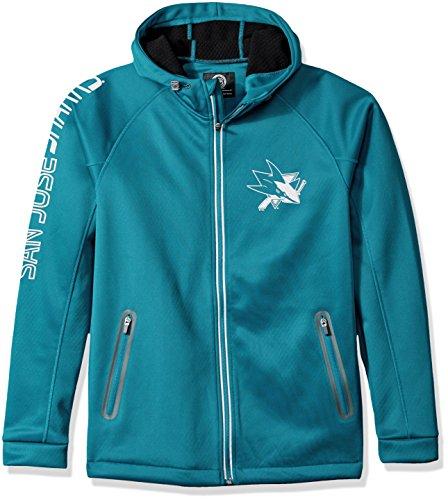 G-III Sports NHL San Jose Sharks Adult Men Motion Full Zip Hooded Jacket, XX-Large, Teal