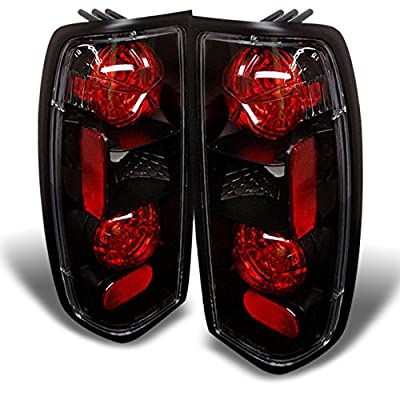 For 1998-2004 Nissan Frontier Pickup Truck JDM Black Tail Brake Lights Lamp Left + Right Set: Automotive