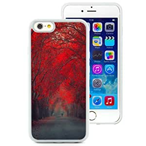 NEW Unique Custom Designed iPhone 6 4.7 Inch TPU Phone Case With Red October Forest Pathway_White Phone Case