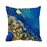 What Is a European King Size Bed Goodaily Ocean Underwater Coral Reef Fishes Pattern Pillowcase Sofa and Car Cushion
