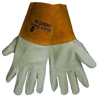 Mundial guantes Kevlar cosido MIG TIG soldador de 100 mt cerdo grano guante, trabajo,