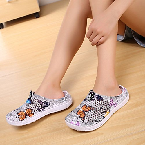Grey Summer Anti Quick Eagsouni Women Slip Garden Walking Slippers Sandals B Beach Drying Clogs Shoes Men Unisex Casual PPqR8a