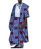 Kankanluck Mens Batik Gowns Plus Size African Floral Tops Vogue T Shirts Four 2XL