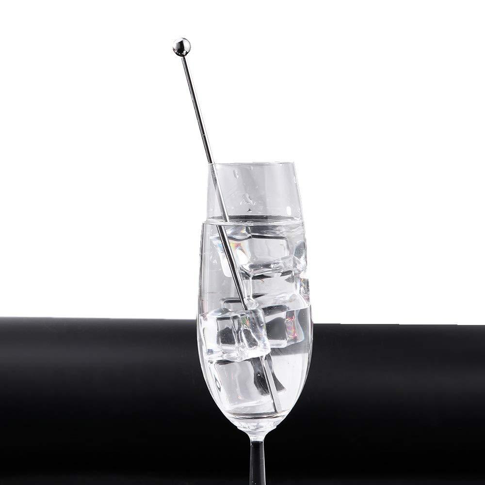 10 Pack Cocktail Shaker Spoon Extra Long Barware Mescolando Cucchiaio per Gelato Pucidder Cocktail Drink Bar Mescolando Agitatori Argento Frullati caff/è