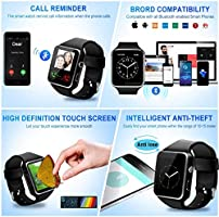 Amazon.com: Reloj inteligente, Bluetooth Smartwatch pantalla ...
