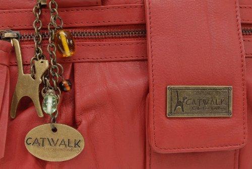 CATWALK COLLECTION - ZARA - Bolso de mano - Cuero Rojo