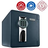 First Alert 2087DF Waterproof 1 Hour Fire Safe with Digital Lock, 0.94 Cubic Foot, Gray