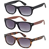 GAMMA RAY 3 Pairs Bifocal Gradient Sunglasses Readers Reading Glasses - 2.00x