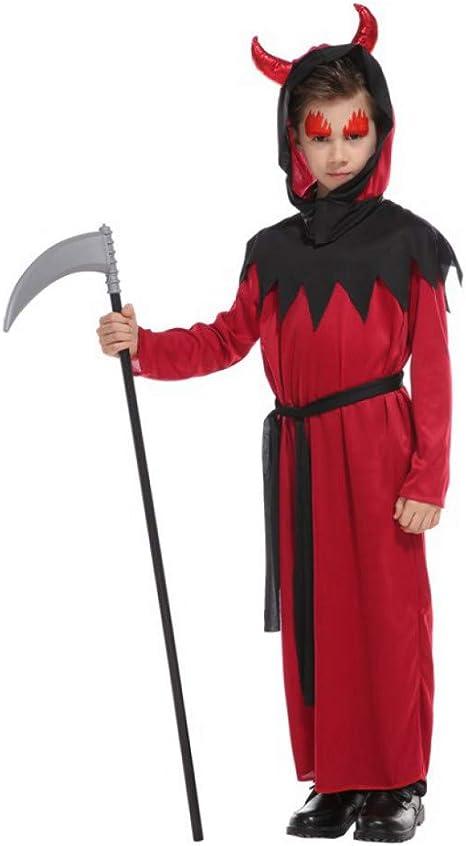 ERFD&GRF Scary Red Horn Devil Disfraces para niños Niño Niños ...