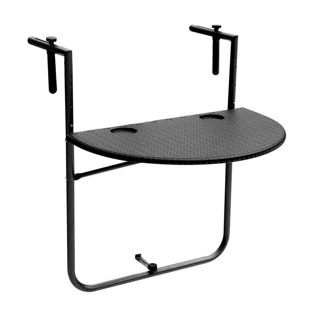Amazon Com IKAYAA Adjustable Folding Balcony Deck Table Hanging
