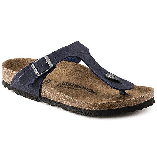 Birkenstock Women's Gizeh Vegan Thong Sandal,Navy Microfiber,EU 41 R