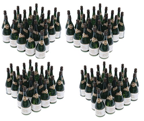 (Nicky Bigs Novelties 96 Mini Champagne Bottles Wedding Bubbles New Years Eve Graduation Party Favors)