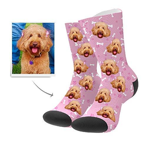 Print Custom Dog - MY PHOTO SOCKS Custom Print High Crew Personalized Socks Gift for Women Men