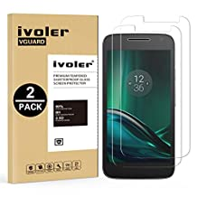 [2 Pack] Motorola Moto G4 Play Screen Protector- iVoler Premium Tempered Glass Screen Protector for Motorola / Lenovo Moto G4 Play - 0.2mm Ballistics Glass, 2.5D Round Edge, 9H Hardness Featuring Anti-Scratch, Anti-Fingerprint, Bubble Free- Lifetime Replacement Warranty