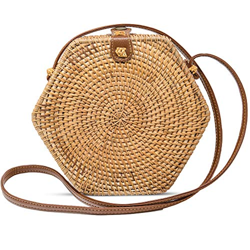 Rattan Bags Straw Bag With...