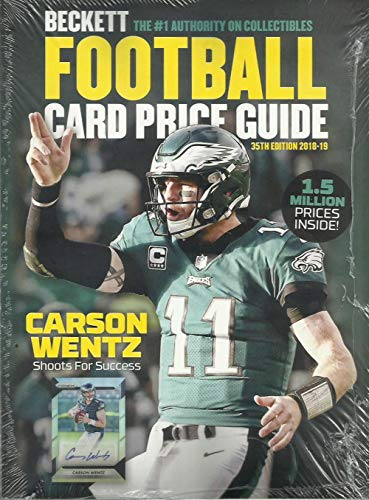 Beckett Football Cover (2018 Beckett Football Card Annual Price Guide #35 (9/18 release, C. Wentz cover))