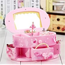 Biscount Girls Dressing Table Music Box Toy Jewelry box For Home Office Decor Birthday Christmas New Year Graduation Party Gift