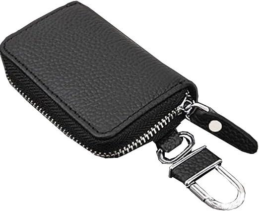 Women Men PU Leather Keyring Car Remote Key Wallets Bag Case Holder Organizer