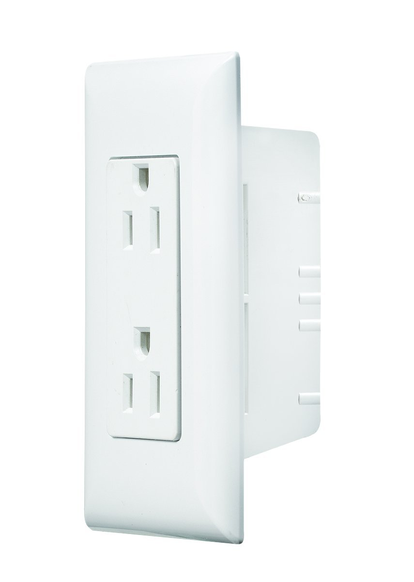 RV Designer S831, Self Contained Wall Switch with Cover Plate, White