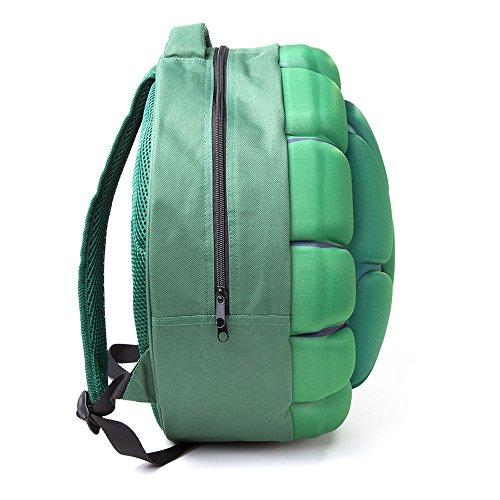 TMNT Mutant Bioworld Turtle 47 Shaped Ninja Casual Daypack Bp101001Tmt 10 Moulded Green cm Green Backpack Shell Teenage L 5B5Irxt