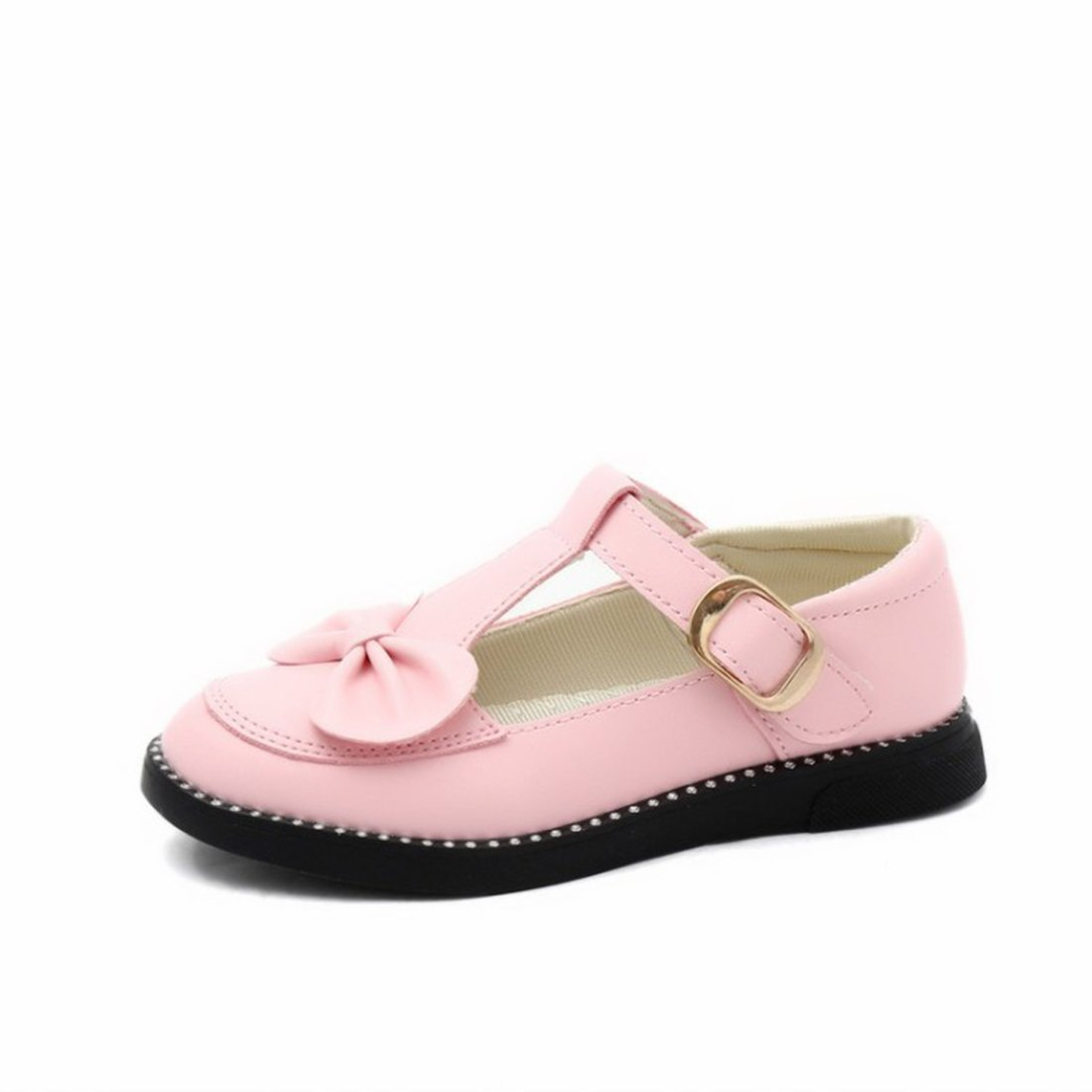 O&N Girls Children Bowknot Ballet Flat Mary Janes Princess Bridesmaid Wedding Party School Shoes by ON