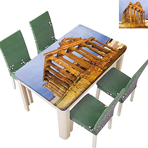 Printsonne 100% Polyester Tablecloth Ancient Temple of Diana in Dawn Merida,Spain Resistant and Waterproof 52 x 108 Inch (Elastic Edge) -